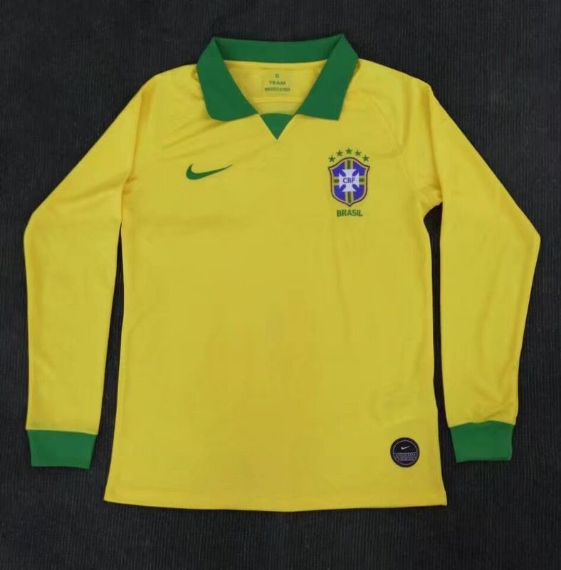 AAA Quality Brazil 19/20 Home Long Soccer Jersey