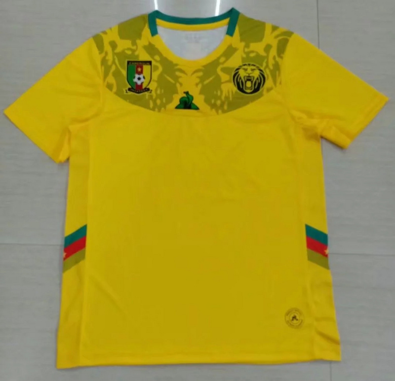 AAA Quality Cameroon 19/20 Away Yellow Soccer Jersey