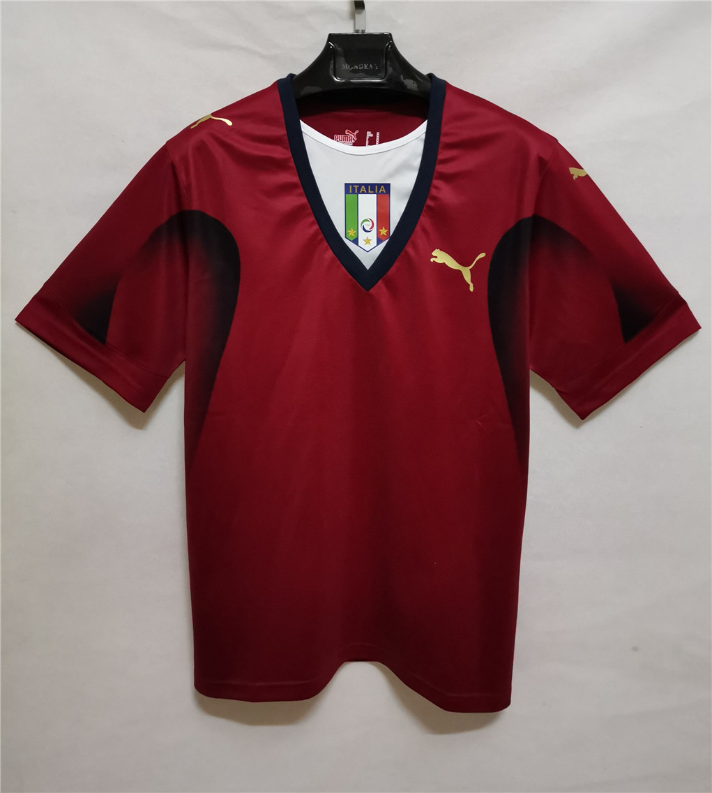 AAA Quality Italy 2006 World Cup GK Red Soccer Jersey