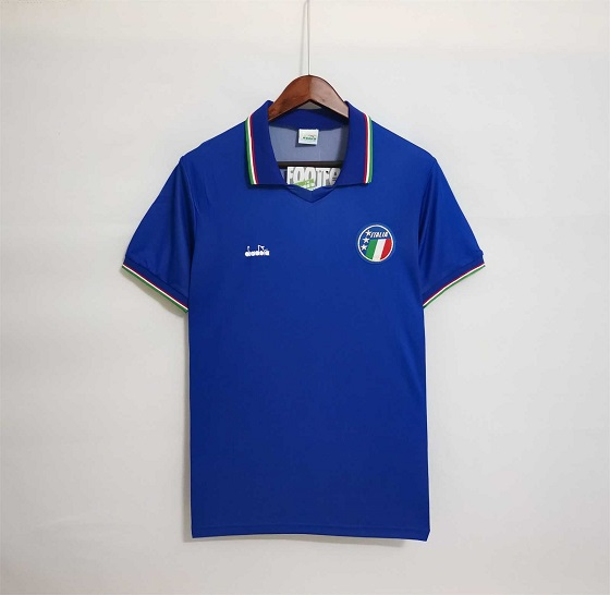 AAA Quality Italy 1990 World Cup Home Soccer Jersey
