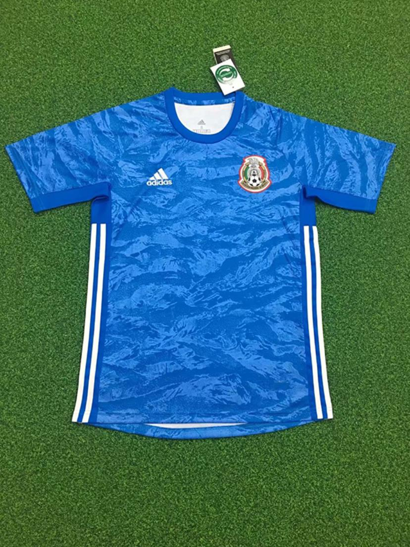 AAA Quality Mexico 19/20 GK Blue Soccer Jersey