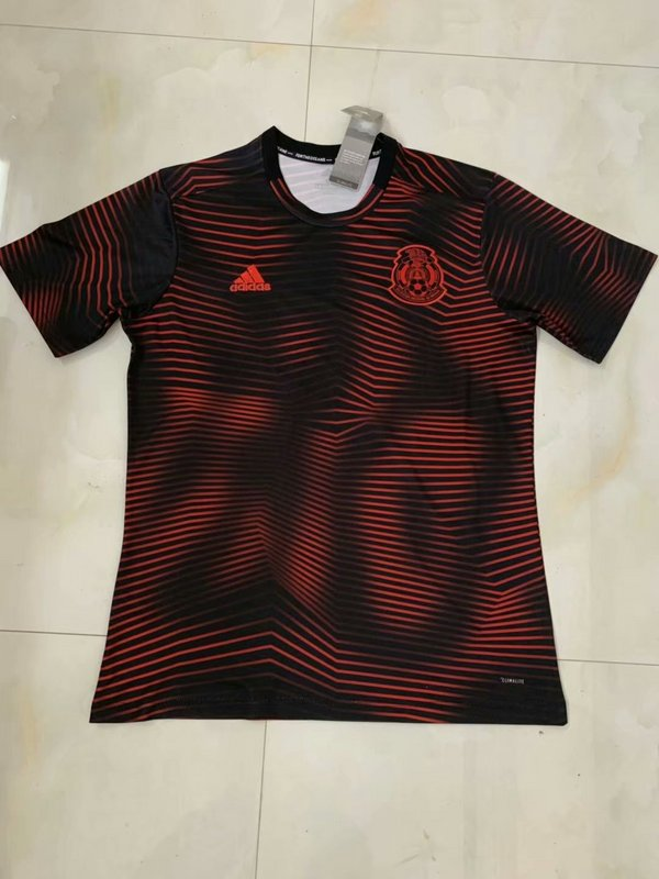 AAA Quality Mexico 19/20 Red/Black Training Soccer Jersey