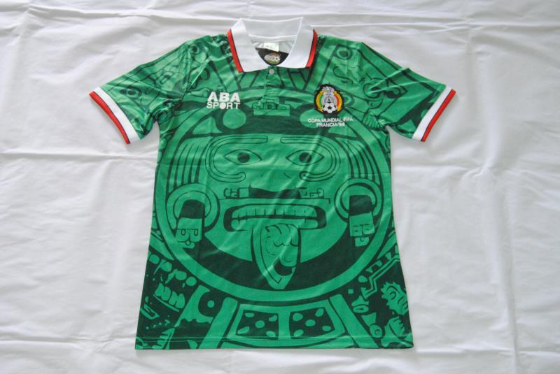 AAA Quality Mexico 1998 World Cup Home Soccer Jersey