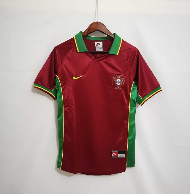 AAA Quality Portugal 1998 Home Soccer Jersey