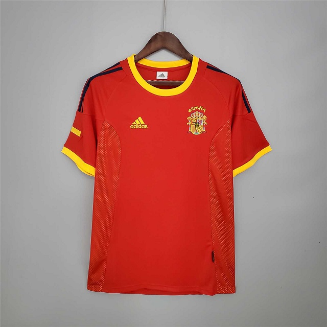 AAA Quality Spain 2002 World Cup Home Soccer Jersey
