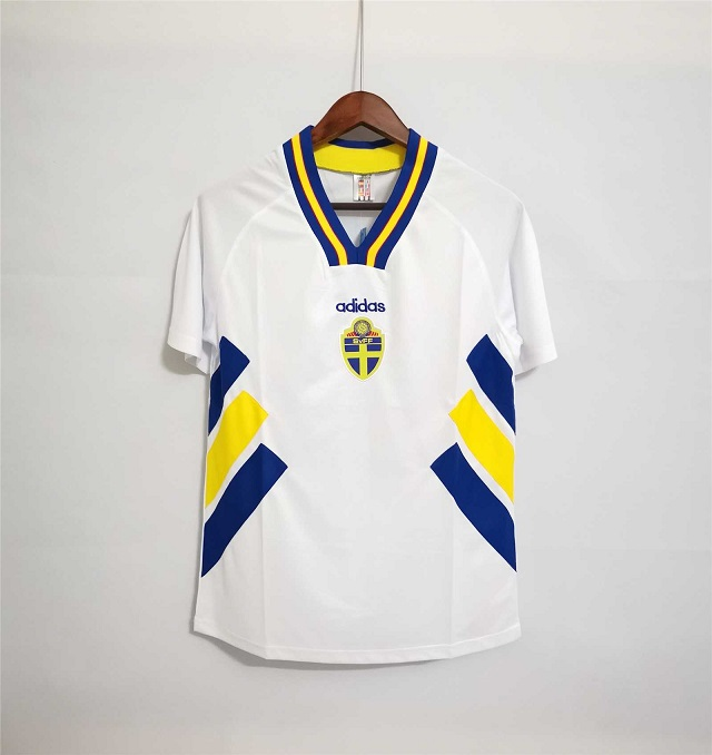 AAA Quality Sweden 1994 World Cup Away Soccer Jersey
