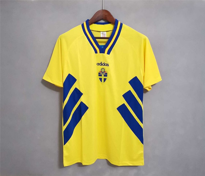 AAA Quality Sweden 1994 World Cup Home Soccer Jersey