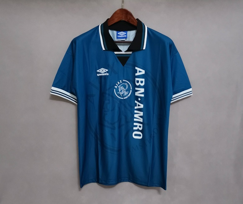 AAA Quality Ajax 95/96 Away Blue Soccer Jersey
