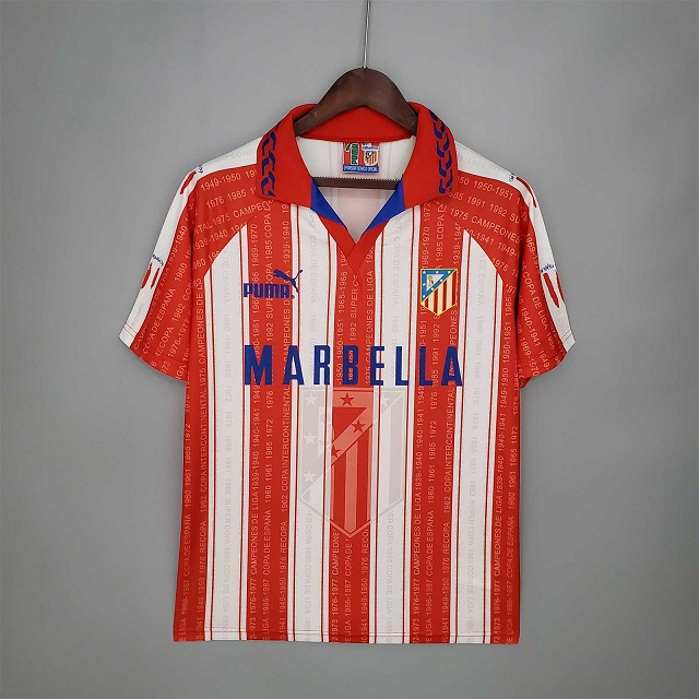 AAA Quality Atletico Madrid 95/96 Home Soccer Jersey