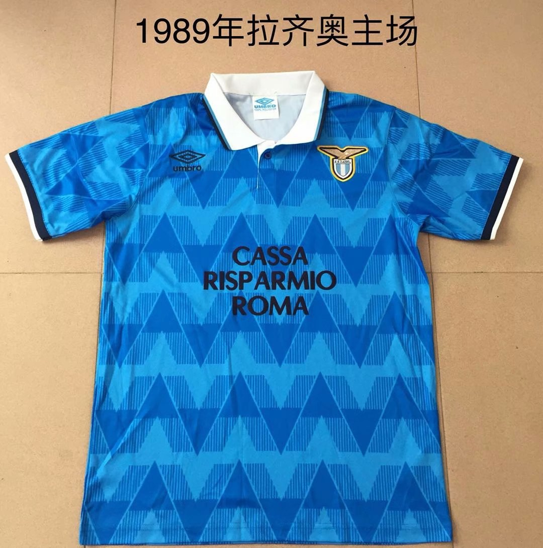 AAA Quality Lazio 88/89 Home Soccer Jersey