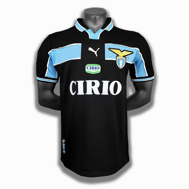 AAA Quality Lazio 98/99 Away Black Soccer Jersey