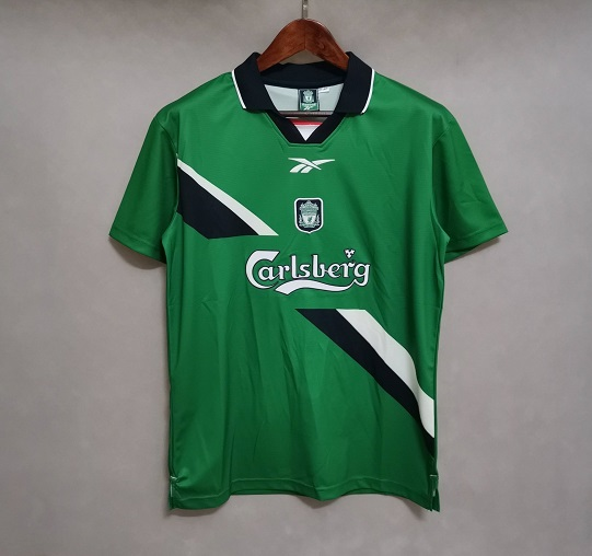 AAA Quality Liverpool 99/00 Away Green Soccer Jersey