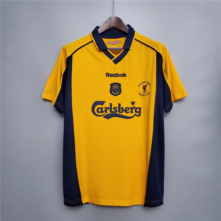 AAA Quality Liverpool 00/01 Away Yellow Soccer Jersey