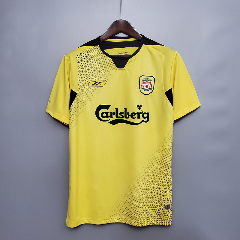 AAA Quality Liverpool 04/05 Away Yellow Soccer Jersey