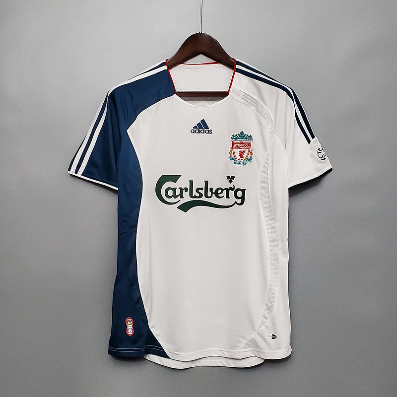 AAA Quality Liverpool 06/07 Away White Soccer Jersey