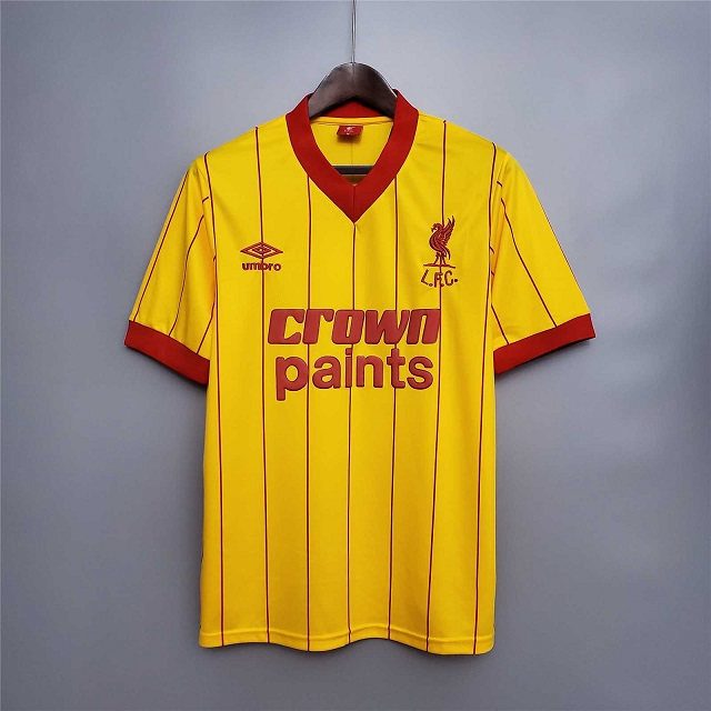 AAA Quality Liverpool 81/84 Away Yellow Soccer Jersey