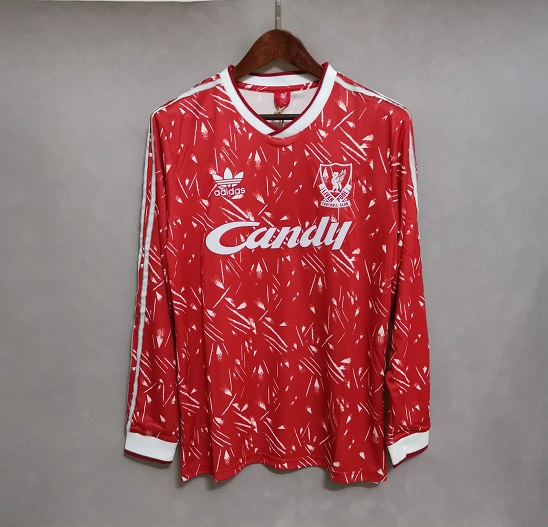 AAA Quality Liverpool 89/91 Home Long Soccer Jersey