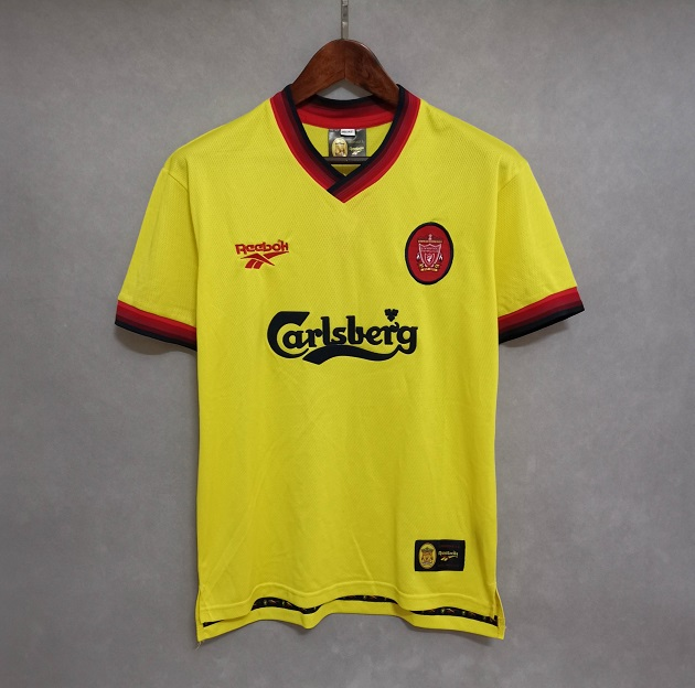 AAA Quality Liverpool 97/99 Away Yellow Soccer Jersey