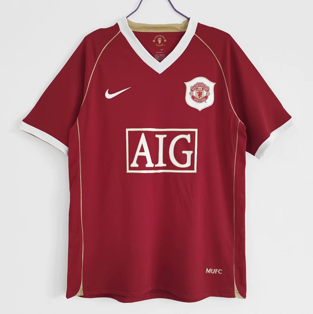 AAA Quality Manchester Utd 06/07 Home Soccer Jersey