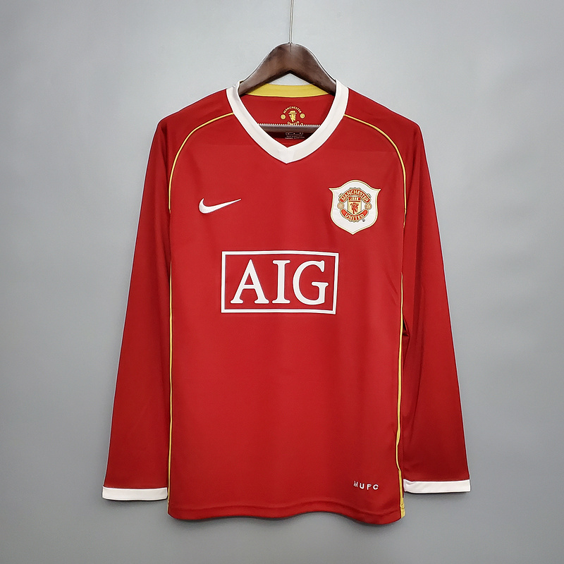 AAA Quality Manchester Utd 06/07 Home Long Soccer Jersey