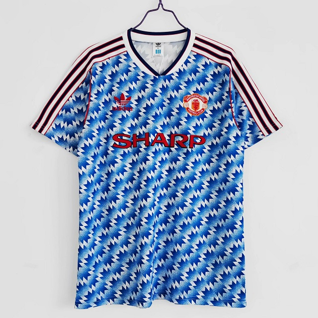 AAA Quality Manchester Utd 90/92 Away Soccer Jersey