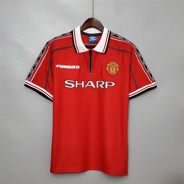 AAA Quality Manchester Utd 98/99 Home Soccer Jersey