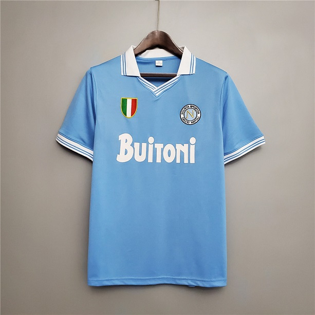 AAA Quality Napoli 86/87 Home Soccer Jersey