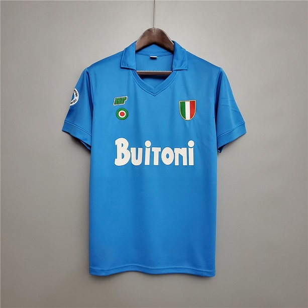 AAA Quality Napoli 87/88 Home Soccer Jersey