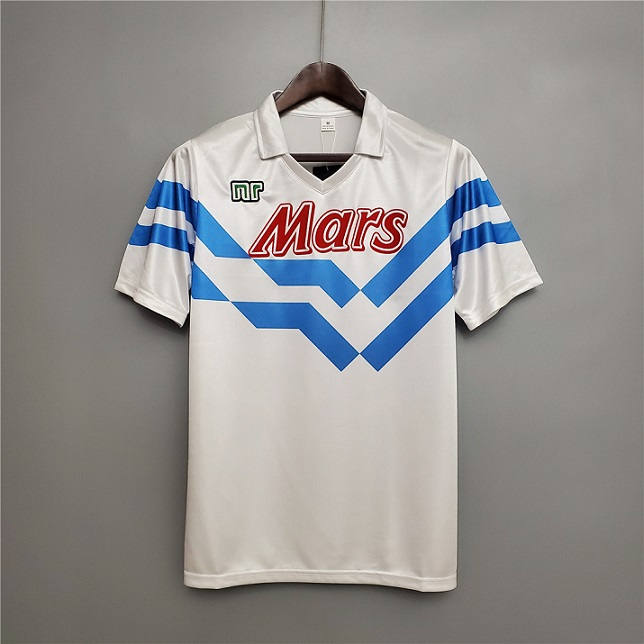 AAA Quality Napoli 88/89 Away White Soccer Jersey