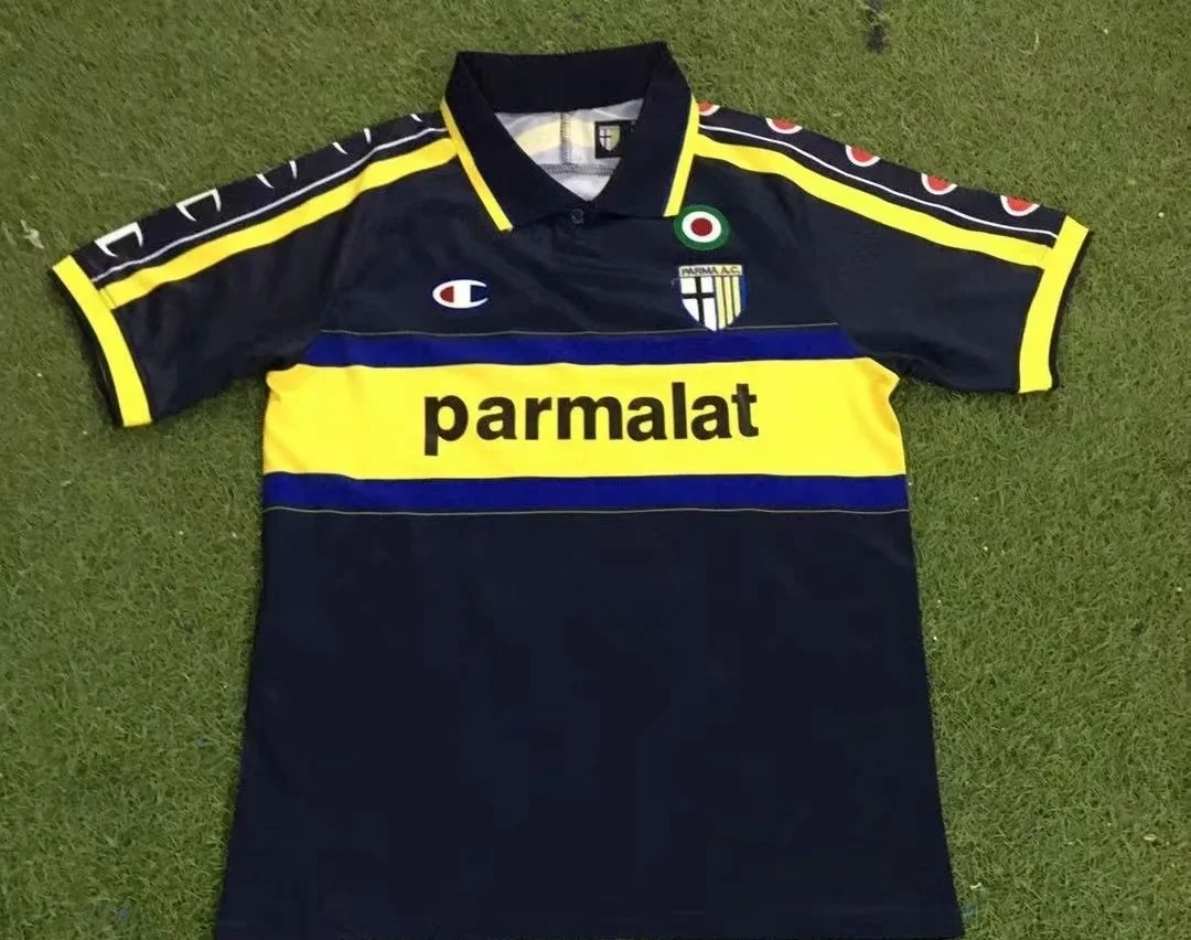 AAA Quality Parma 99/00 Away Black Soccer Jersey