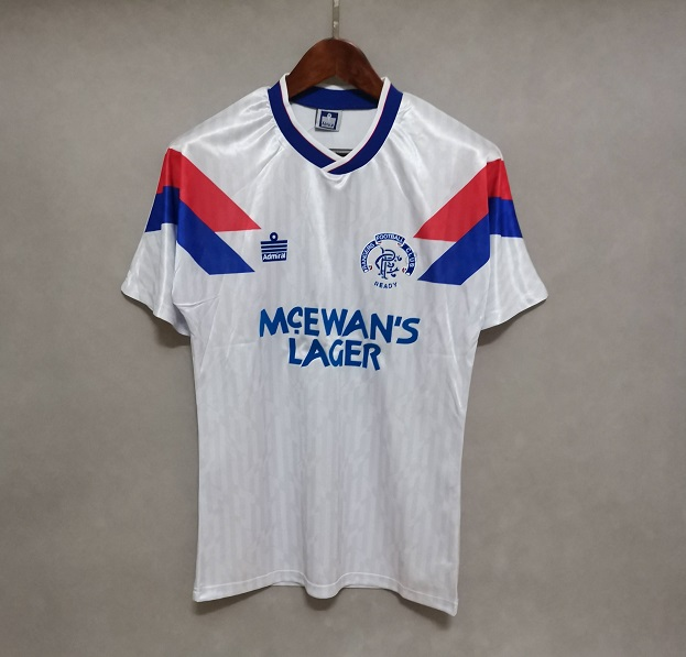 AAA Quality Rangers 90/92 Away White Soccer Jersey