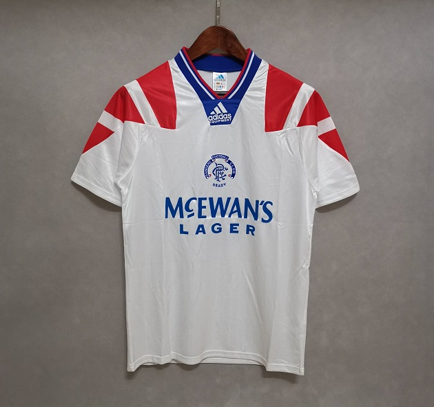 AAA Quality Rangers 92/94 Away White Soccer Jersey
