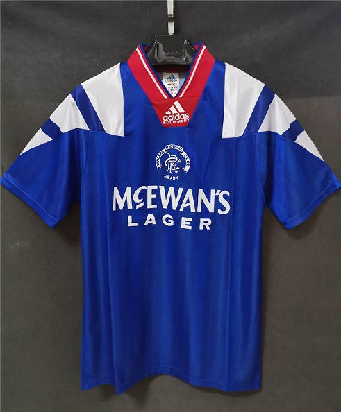 AAA Quality Rangers 92/94 Home Soccer Jersey