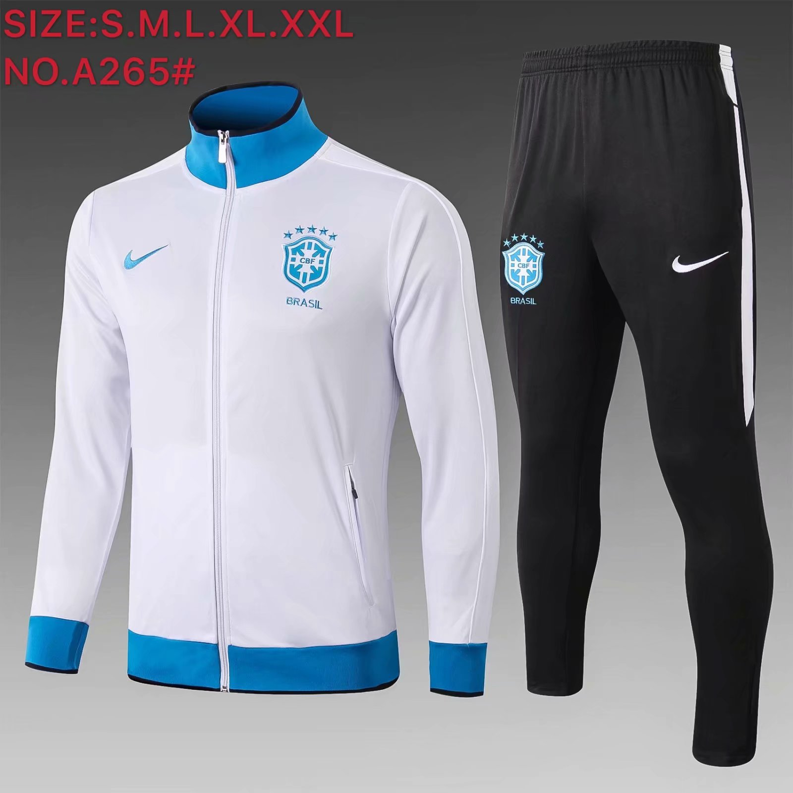 AAA Quality Brazil 19/20 Tracksuit - White