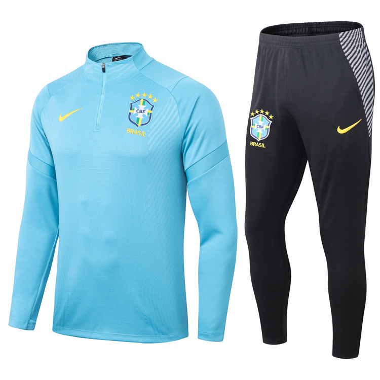 AAA Quality Brazil 20/21 Tracksuit - Blue