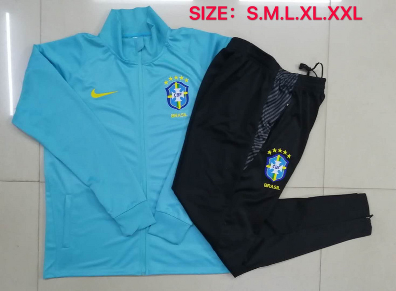 AAA Quality Brazil 20/21 Tracksuit - Blue 2