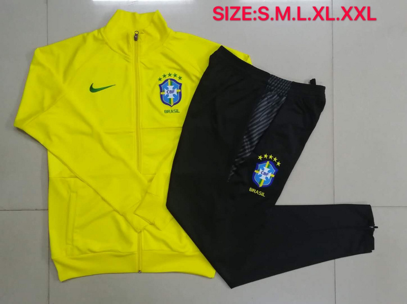 AAA Quality Brazil 20/21 Tracksuit - Yellow