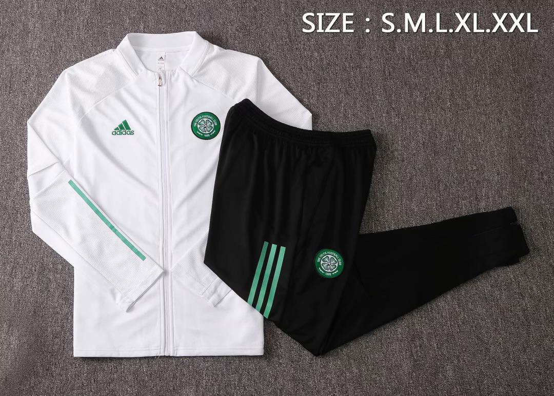 AAA Quality Celtic 20/21 Tracksuit - White