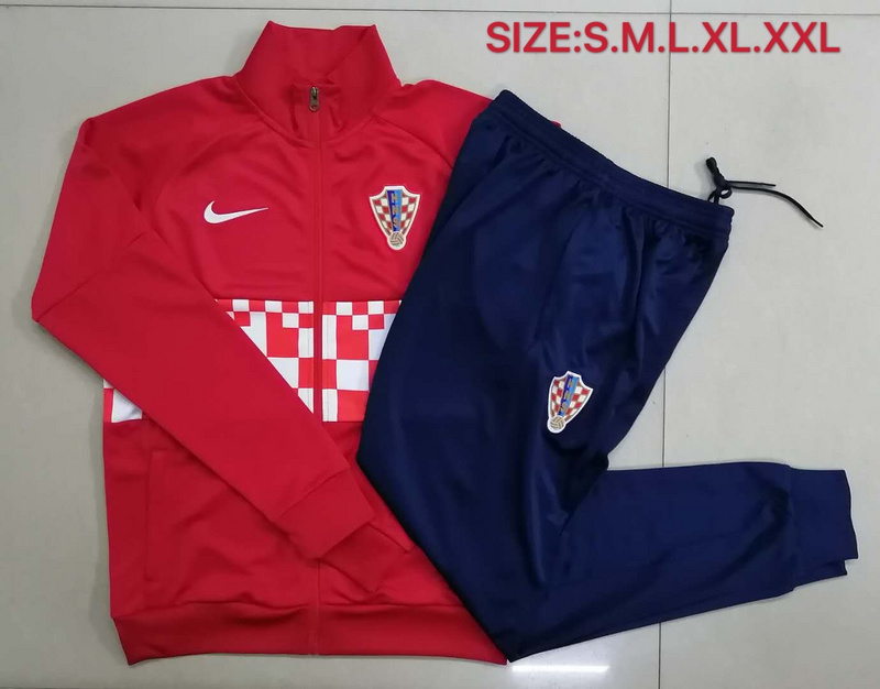 AAA Quality Croatia 2020 Tracksuit - Red