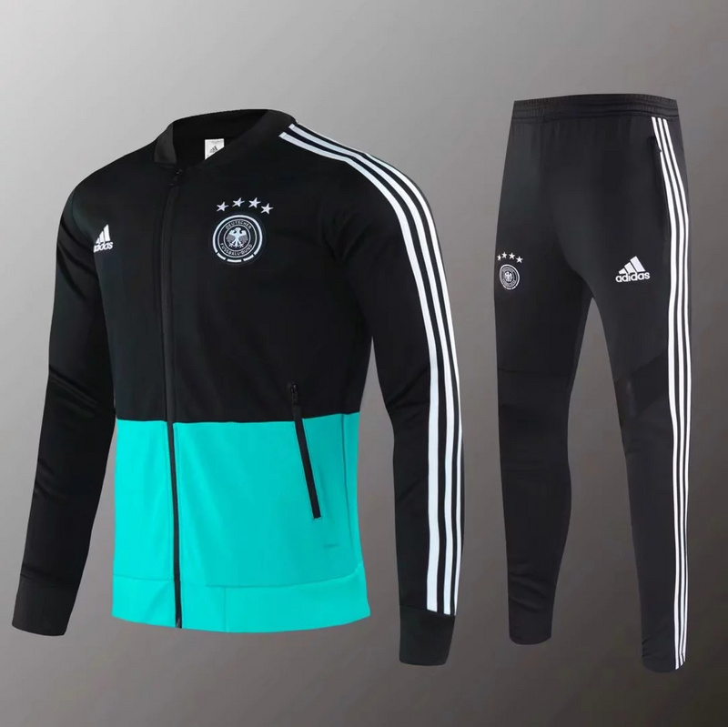 AAA Quality Germany 2020 Tracksuit - Black/Green