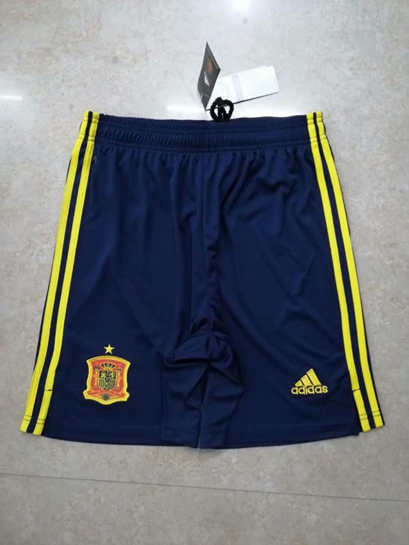 AAA Quality Spain 2020 European Cup Home Soccer Shorts