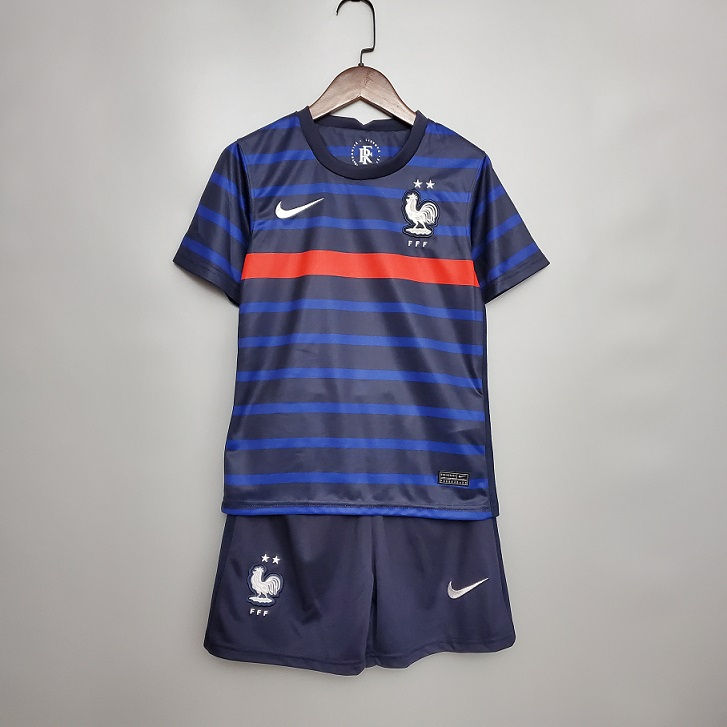 Kids-France 2020 European Cup Home Soccer Jersey